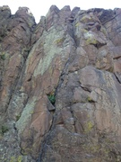 Rock Climbing Photo: The route, basically.