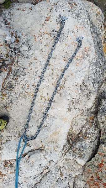 Rock Climbing Photo: Rap anchor on summit