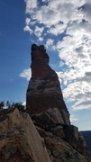 """Rock Climbing Photo: From the west--the left arete is the route """"M..."""