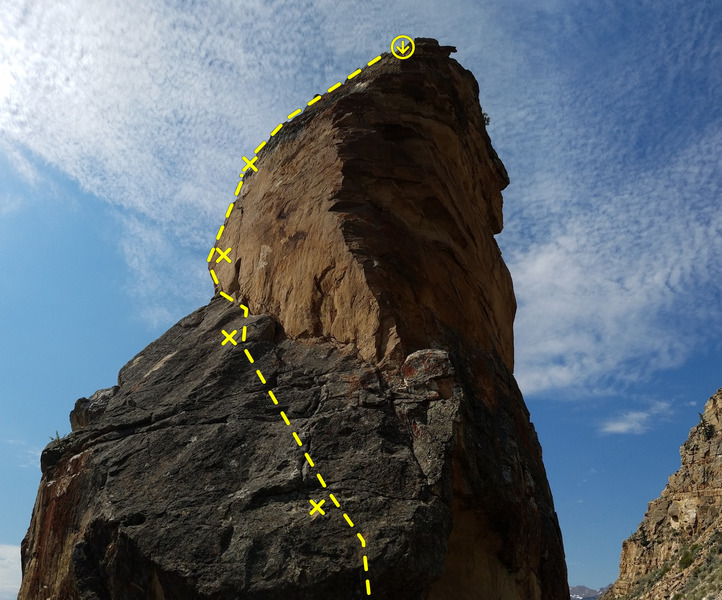Rock Climbing Photo: Route from the northeast