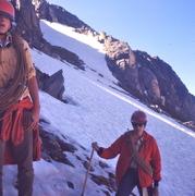 Rock Climbing Photo: John McCC and Mark F on the slopes below Peak 11,7...