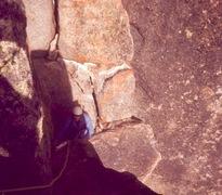 Rock Climbing Photo: John G on the South Chimney, 1968.