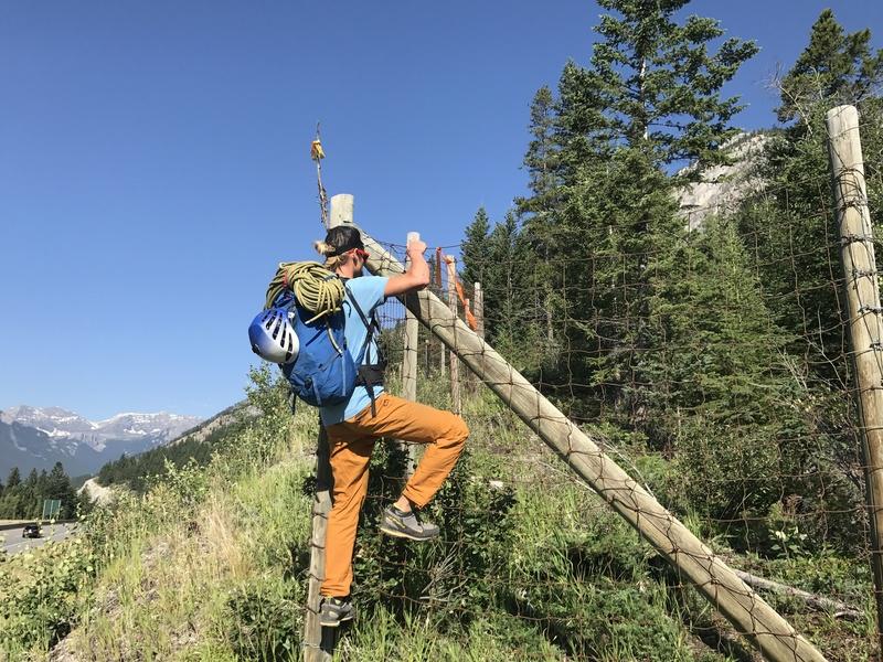 Rock Climbing Photo: Climbing over the animal fence
