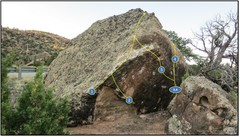 Rock Climbing Photo: Aurora Rock:  1. Act of Position. 2. Thunderbir...