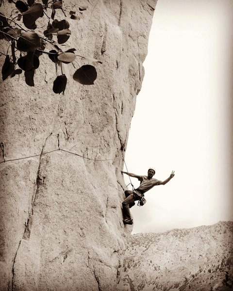 Rock Climbing Photo: Steppin out on Over and Out!!!