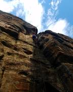 Rock Climbing Photo: Me toproping Licorice Stick.