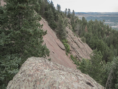 Rock Climbing Photo: View from Macbeth over to the First Flatiron (midd...