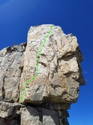 Rock Climbing Photo: A fine 5.8ish slab of white granite. You can even ...