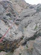 """Rock Climbing Photo: Surprised by this """"probably 5.6"""" route."""