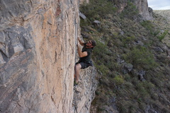 Rock Climbing Photo: Dohtremmy guns it for the crux moves just above th...