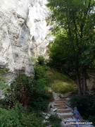 Rock Climbing Photo: From the parking lot, this goes steep uphill and t...