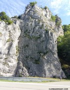 Rock Climbing Photo: Another shot of Hauptwand from the other side of t...