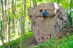 "Rock Climbing Photo: Holy Guaca""MOLY"" that is a fun boulder!"