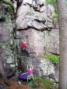 Rock Climbing Photo: Matt Satermo on the sharp end of this great climb....