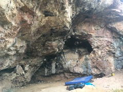 The bouldering cave.