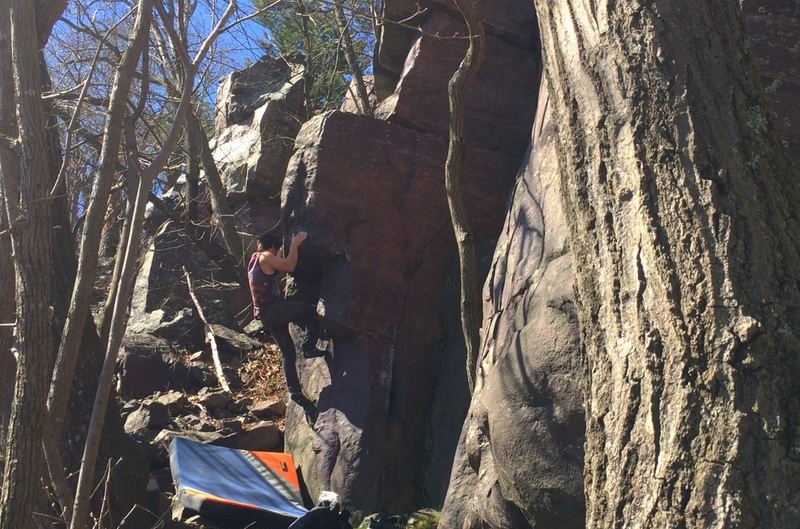 Rock Climbing Photo: Middle Moves. Spring 2017.