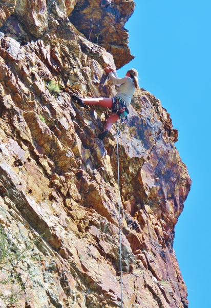 Ashley Tucker, Vocational Training (5.9), Higher Education Ridge, West Face.