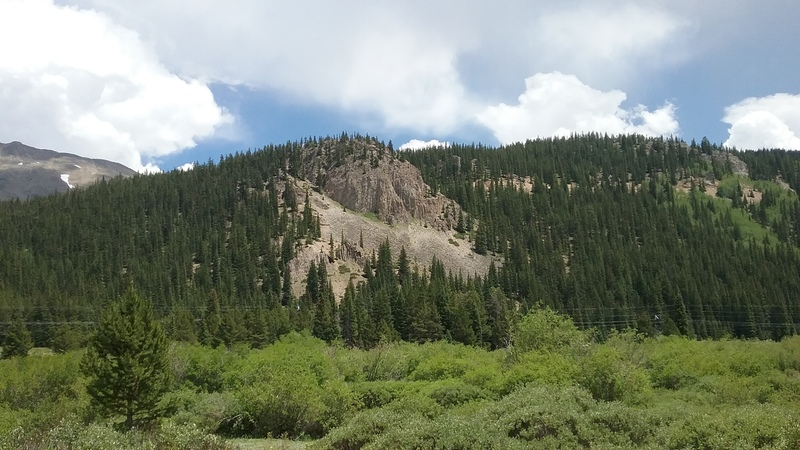 Rock Climbing Photo: From CO Hwy 91 just south of Cecilville Slabs.