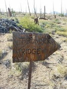 Rock Climbing Photo: After this sign, you are on National Forest and no...