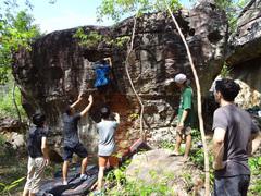 Rock Climbing Photo: Hueco Alley