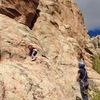Gunnison climbing with my 4 year old:)