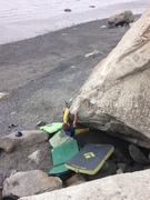 Rock Climbing Photo: Moving through the crux