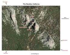 Rock Climbing Photo: Needles Area Map