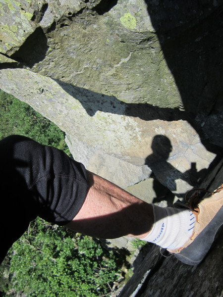 Rock Climbing Photo: Soloing with shadow