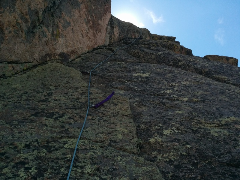 Rock Climbing Photo: Pitch 2 after my partner had finished his lead.