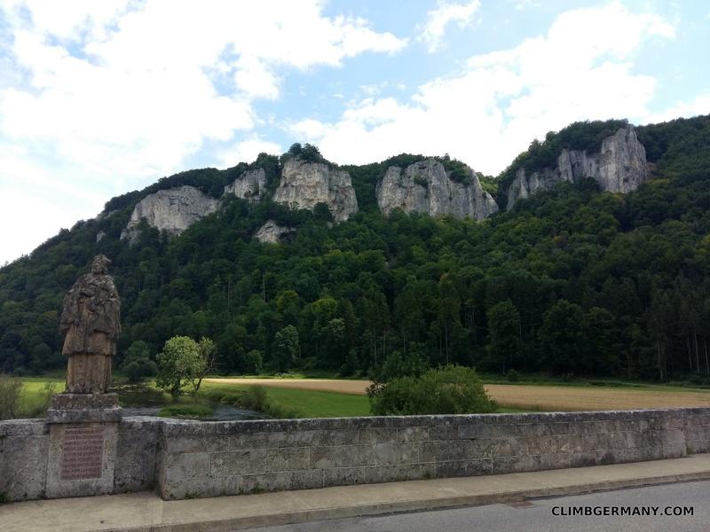 "Rock Climbing Photo: The ""Hausener Felsen"" or Hausen Crags, d..."