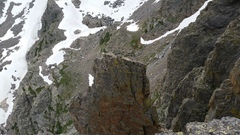 Looking down at the Petit summit from the top of Southwest Corner.