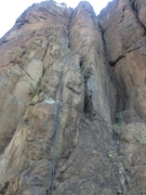 Rock Climbing Photo: The route is shown by the rope.