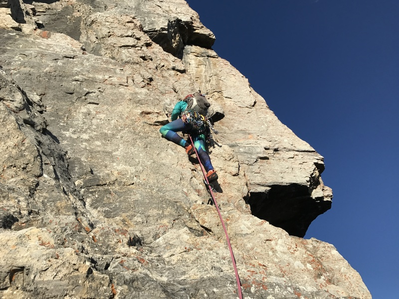 Rock Climbing Photo: Me leading the last pitch, the 5.6 variation that ...