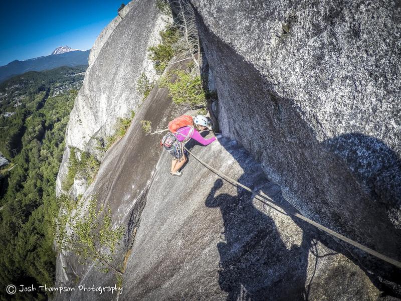 Rock Climbing Photo: Pitch 4, tricky traverse