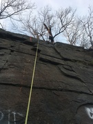 Rock Climbing Photo: The first two moves are made difficult by slick gr...