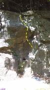Rock Climbing Photo: The line of Bane of Chris