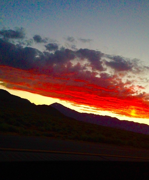 Rock Climbing Photo: East Side Fire Sky!