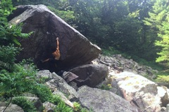 Rock Climbing Photo: Hittin' the first move. Still no send for me on th...