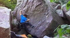 Rock Climbing Photo: The first hard move. Tried to repeat this one in t...
