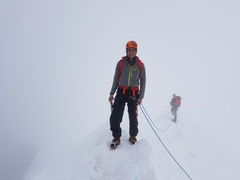 Rock Climbing Photo: nice view of the fog on the summit