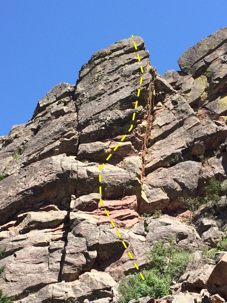 Rock Climbing Photo: A topo.