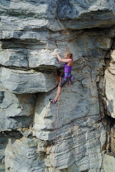 "Rock Climbing Photo: Eva Witham climbing ""House of Cards"""