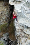"Rock Climbing Photo: Max Witham climbing ""Monkey in a Blender&quot..."