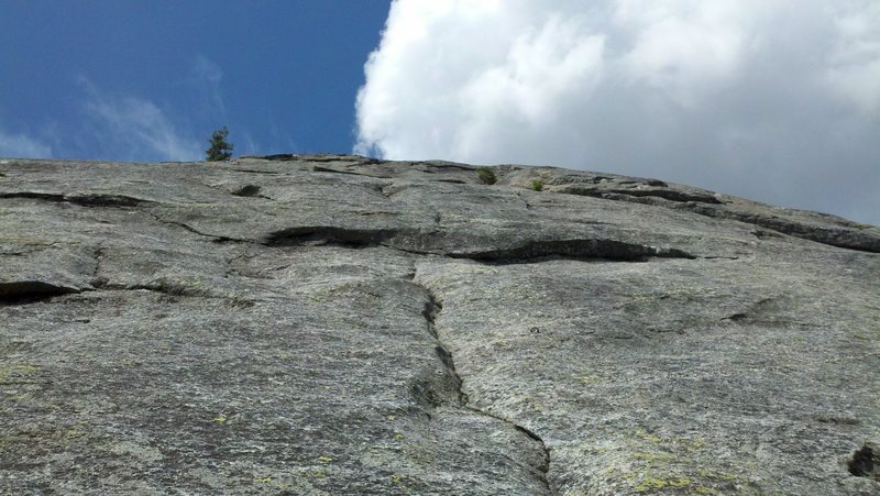Rock Climbing Photo: About 2/3 of the way up.