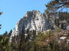 Golden Trout Crag, directly west of the Cottonwood Lakes Trail