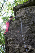 Rock Climbing Photo: Cassie climbing the far right arete, which has not...