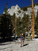 Rock Climbing Photo: Easy saunter to Golden Trout Crag