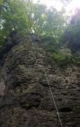 Rock Climbing Photo: Bella on her first outdoor climb.