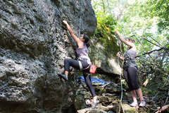 Rock Climbing Photo: The start to Slingshot.