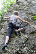 Rock Climbing Photo: At this part of the route you'll want to start wor...